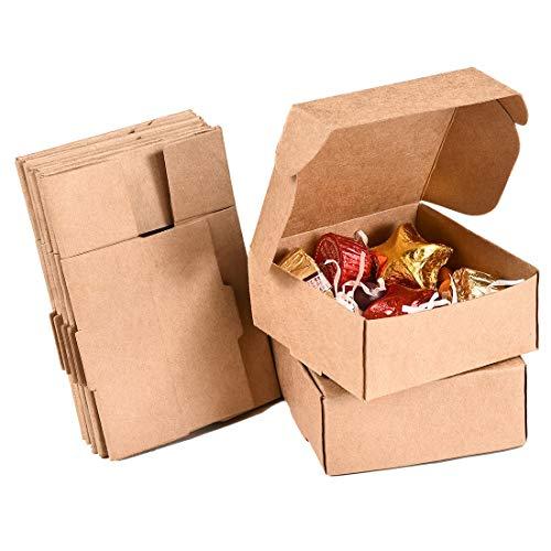 Nati Caja de Regalo [Pack de 50] - Cajita de Papel Kraft Cajas de Cartón para Joya Dulces...