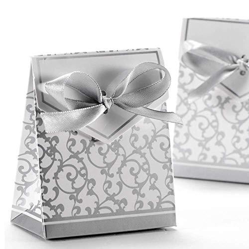 Anyasen 50 piezas caja regalo papel cajas de favor partido caja regalo los favores los...