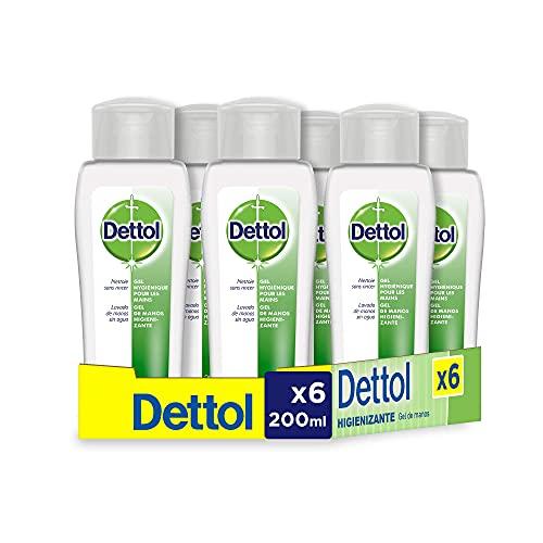 Dettol Gel hidroalcoholico higienizante de manos - 200 ml x 6