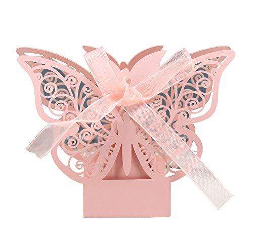 Unial - Caja de regalo con diseño de mariposa cortada a láser para regalos, cajas de...