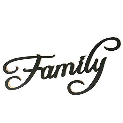 Regard L Bendiciones Familia Memories Letra de Madera Etiqueta de la Pared de Madera...