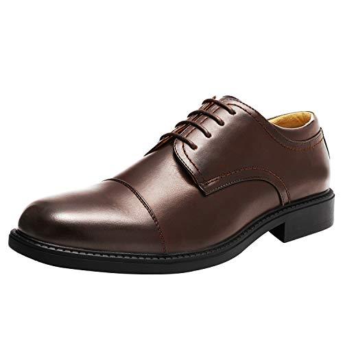 Bruno Marc Downing-01 Zapatos de Cordones Oxfords Vestir Derby para Hombre Marrón Oscuro...