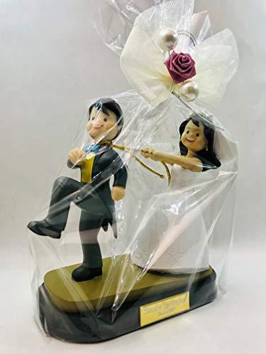 Figura boda PERSONALIZADA novios graciosos tarta muñecos GRABADOS originales