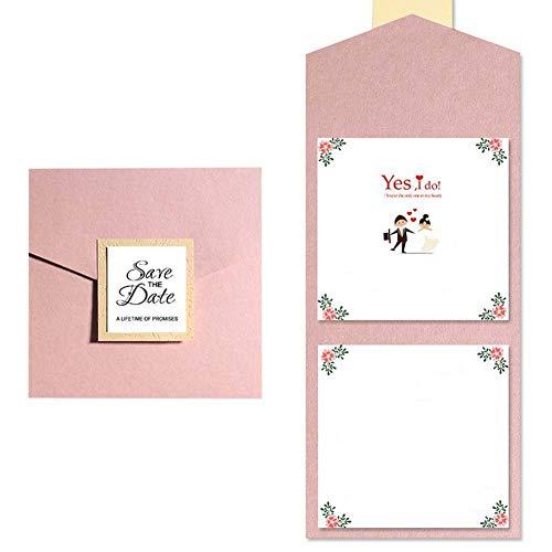 JXS-Wedding Tarjeta de invitación de Boda de Bronceado, Corte de láser de Papel Pera de...