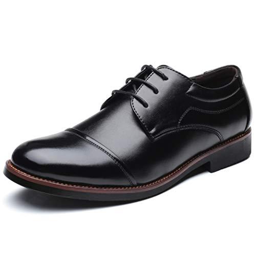 Zapatos De Vestir Comerciales para Hombre Zapatos De Cuero De Goma con Cordones De Punta...