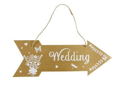 Cartel Flecha Wedding - Cartel Flecha Reception - Cartel para Decoración de Bodas,...