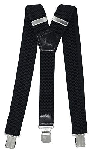 Xeira - Tirantes para hombre y mujer extrafuertes en diseño UNI y rayas con 3 clips XL de...