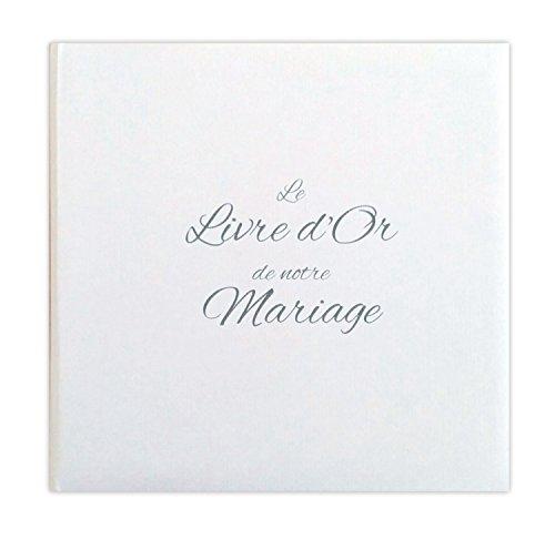 Lodafon LDTMB – Libro de firmas para boda – Diseño con efecto de entelado con...