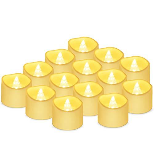 Velas LED Sin Fuego 14 Pack ,Velas LED que parpadean amarillas para hogar festivales...