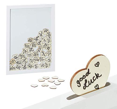Brandsseller - Libro de visitas para bodas y cumpleaños, con 72 corazones o 50 estrellas...