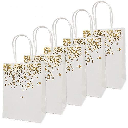 20 Piezas Bolsas de papel kraft con asas hechas de papel kraft respetuosas con el medio...