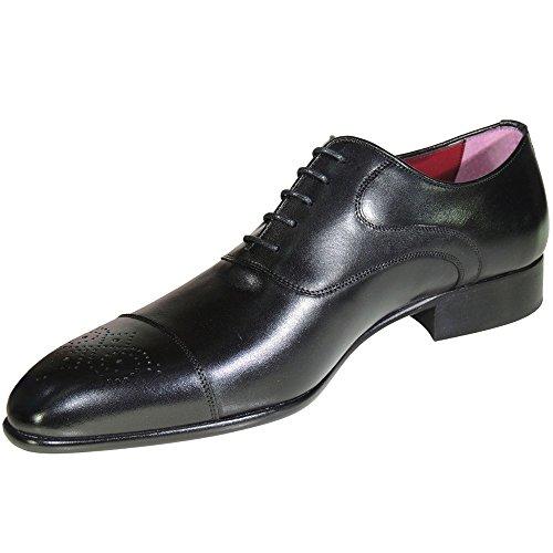 JR JIMÉNEZ Zapato Blucher Oxford Vestir Piel Piso Cuero Suela Hombre Negro Talla 46