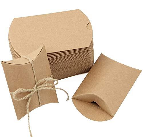 JTDEAL 50 Cajas para Regalo y 50 Cuerda de Yute(64cm), Bolsas de Regalo, Cajas de Papel...