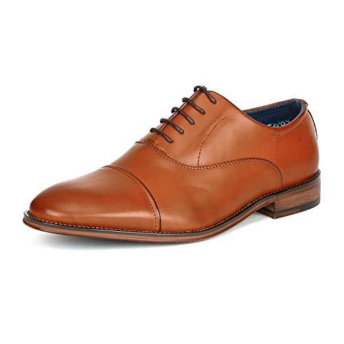 Bruno Marc Louis_2 Zapatos de Cordones Vestir Derby Oxford para Hombre Marrón 42 EU/9 US