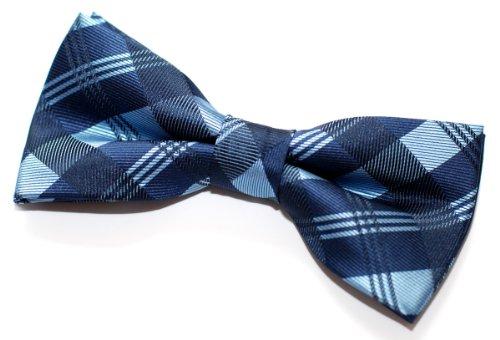 Retreez - Pajarita preenlazada para hombre, diseño de cuadros (11,5 cm) azul Talla única
