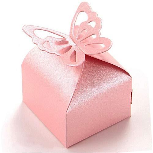 Aweisile 50 Piezas Cajas de Mariposas Cajas para Bombones Cajas de Favor Caja de Regalo...