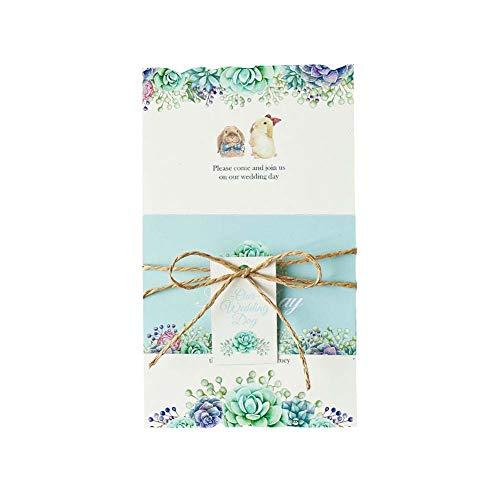 JXS-Wedding Invitaciones de Boda Personalizadas con cordeles, Etiquetas Hechas a Mano,...