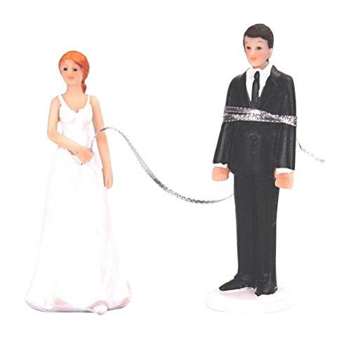 Ultnice - Figura decorativa de resina sintética para novias, diseño romántico