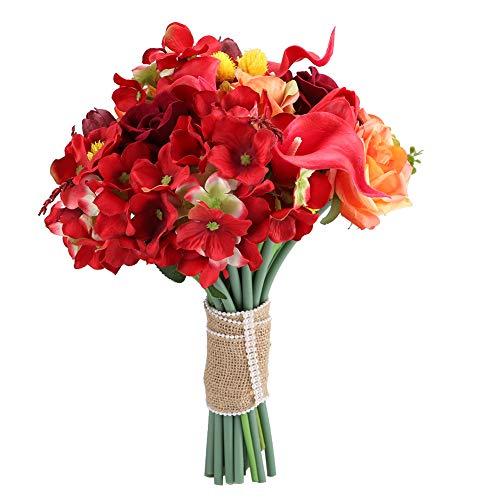 Ramo de Flores de Boda-Samfox Ramo de Boda Artificial Ramo de Novia Ramo Artificial