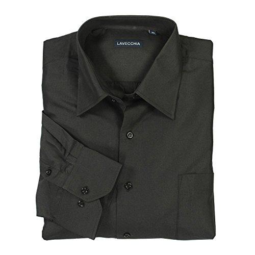 Lavecchia - Camisa formal - para hombre negro XXXX-Large