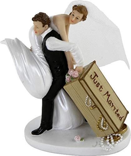 'Günthart–Figura para tarta Cake Topper boda par de Novios decoración boda wedding...