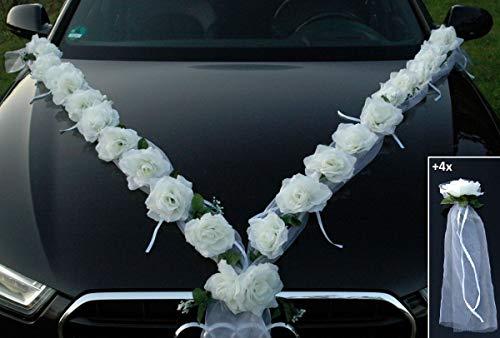 Rosas Guirnalda Auto Joyas Novios decoración de Rosas Decoración Joyas Auto Car Auto...