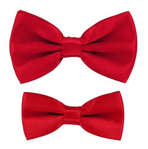 axy Pajarita para hombre y niño, ideal para fiestas, bodas, FLIP1 rojo Talla única