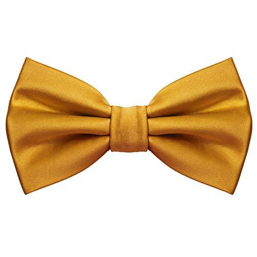 MASADA Pajarita dorado – look de seda, de ajuste continuo, elaborada a mano con cierre...