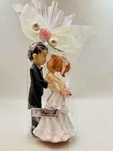 Figura boda PERSONALIZADA novios beso tarta muñecos GRABADOS baratos