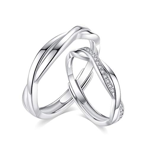 Guzhile Mujer Hombre Unisex Plata fina 925 plata redonda White Cubic Zirconia