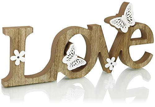 com-four® Letrero Decorativo de Madera - Letras Love para Decorar - Letras de Madera Love...