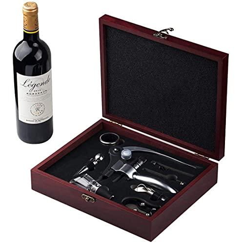 Cooko Abridor de Vino, Abrebotellas Sacacorchos, Set de Accesorios para Vino, 9 Piezas con...