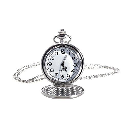NICERIO Reloj de Bolsillo Vintage, Reloj de Cuarzo Unisex Reloj de Bolsillo mecánico con...