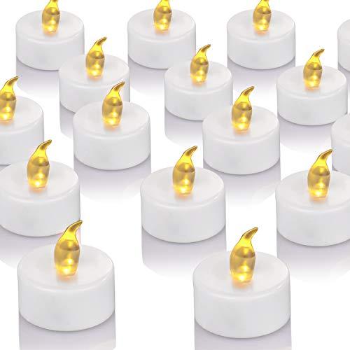 OSHINE 50unidades LED Velas Velas CR2032 pilas velas sin llama de iluminación eléctrica...