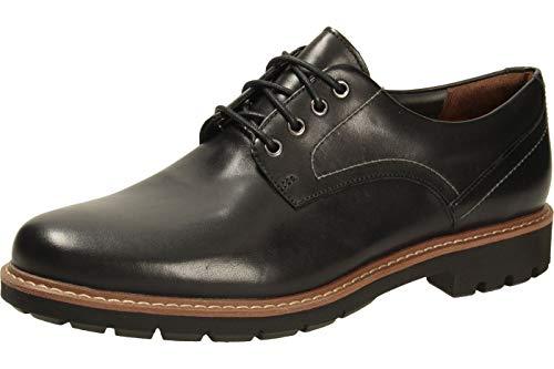 Clarks Batcombe Hall Derby - Zapatos de Cordones para Hombre, Negro (Black Leather), 41.5...