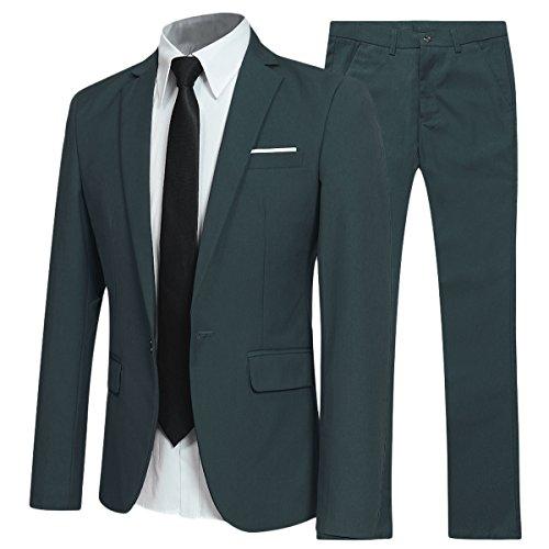 Traje de 2 piezas para hombre compuesto por chaqueta y pantalones, ajuste estrecho, para...