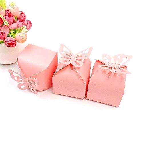 JZK 50 x Cajas de favor para el cumpleaños boda baby shower sagrada comunión fiesta...