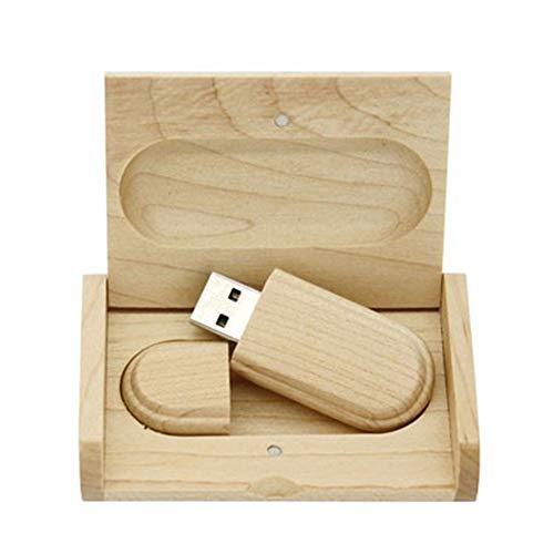 Memoria USB de madera de arce USB 2.0 de 16 GB de almacenamiento de datos con caja de...
