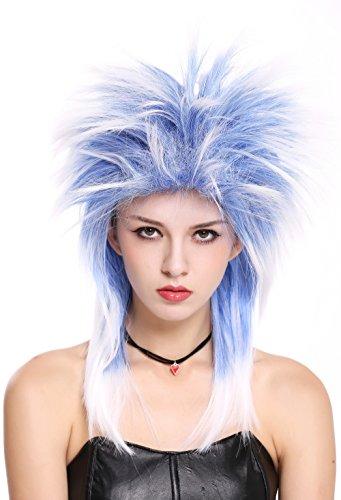 WIG ME UP- 90891-ZAC3TZA60 Peluca Mujer Hombre Carnaval Halloween años 80 Punk Wave...