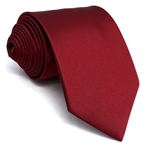 shlax&wing Color Sólido Rojo Boda Seide Krawatte Herren Classic Tie 147cm