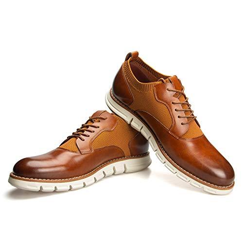 JITAI Men Oxfords Shoes Zapatos de Vestir Casuales para Hombres Zapatos de Moda Ligeros...