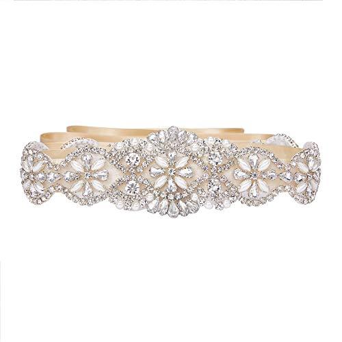 SWEETV Correas Cinturón de Diamantes Cinturones de Perla Para las Partido de la Tarde...