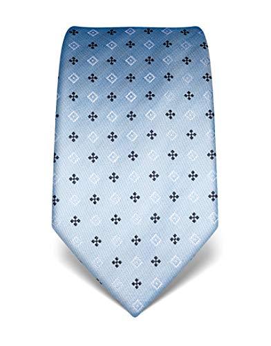 Vincenzo Boretti Corbata de hombre en seda pura, estampada azul claro