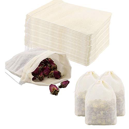 Pveath Bolsa de algodón con cordón, 60unidades, bolsa de algodón pequeña con cordón,...