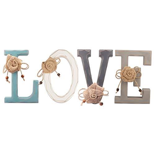 Letras de Madera Decorativas- Love Letras de Madera para Decoración de Paredes en Azul...