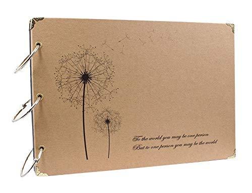 ThxMadam Álbum de Fotos Libros de Firmas para Boda Scrapbooking Album Cuaderno Diario de...