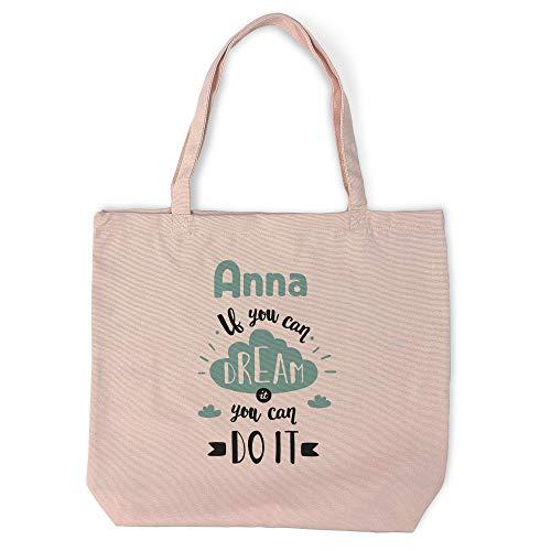 Tote Bag Personalizada con Nombre/Texto. Regalos Personalizados. Tejido Tipo Canvas....