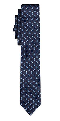 BOSS corbata de seda pattern navy blue