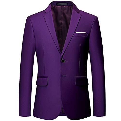YOUTHUP Blazers de Hombre Slim Fit Elegante Chaqueta de Traje Formal Americana para Hombre