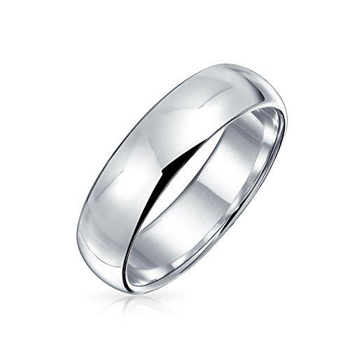 Minimalista simple simple 925 plata esterlina domo parejas alianzas anillo de boda para...